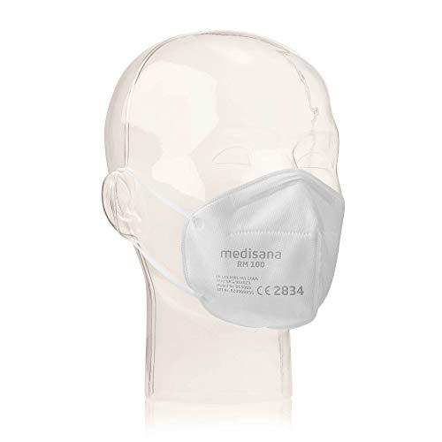 Medisana RM 100 FFP2/KN 95 Atemschutzmaske Staubmaske Atemmaske 3-lagige Staubschutzmaske Mundschutzmaske 10 Stück einzelverpackt im PE-Beutel