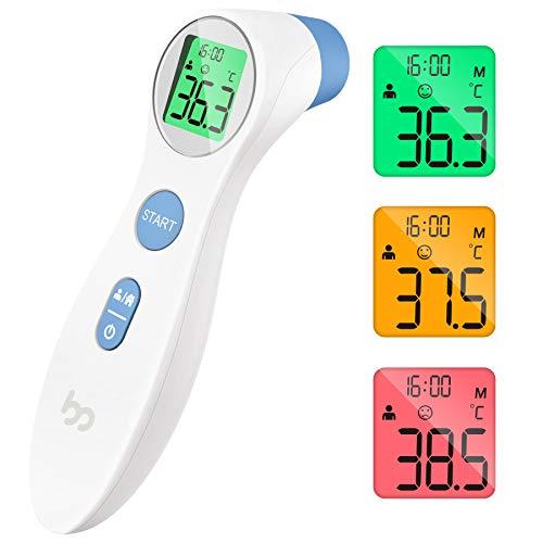 Femometer Fieberthermometer kontaktlos infrarot Stirnthermometer (weiß)