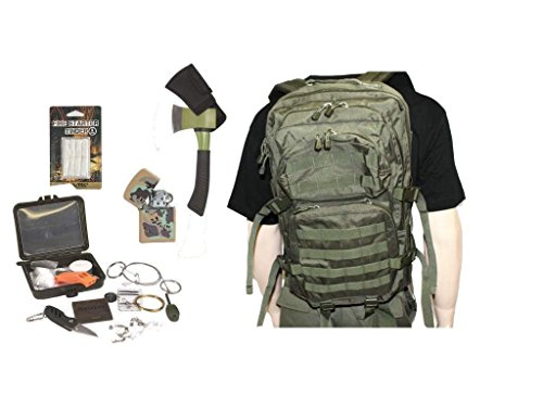 AOS-Outdoor Survival Set Trekking Outdoor Set Oliv