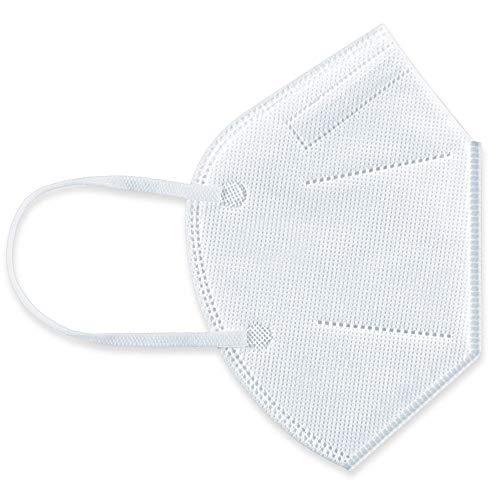 Beurer MM 50 Atemschutzmaske FFP 2 / KN 95, 5-lagig zum Filtern von Partikeln aus der Luft, zusätzlicher Schutz gegen Tröpfchen und verschiedene Mikroorganismen, Nasenbügel aus Metall, 40 Stück