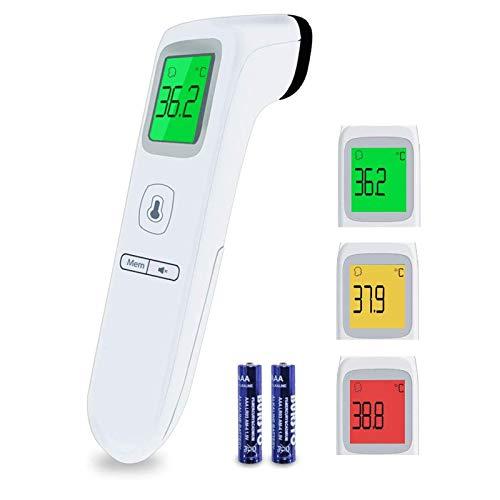 Fieberthermometer, Boriwat Stirnthermometer, Infrarot Thermometer für Babys, Kinder, Erwachsene, digitales Dual Mode Thermometer mit Fieberalarm, Speicherfunktion
