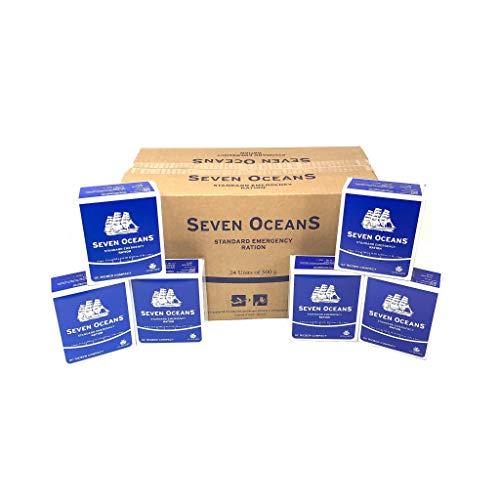 Seven Oceans Notration in Karton 24 x 500g - Langzeitnahrung für Outdoor-, Überlebens- und Notfallsituationen