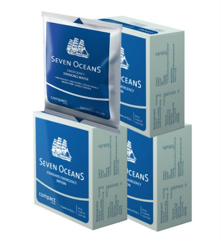 Seven Oceans Emergency Food Rations and Water For Survival 1500g + 500ml