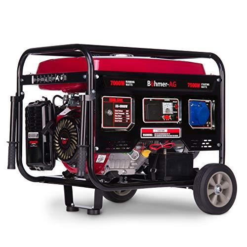 Böhmer-AG 6500W Benzin Stromerzeuger Stromgenerator, Stromerzeuger - elektrische Zündung 3,5 kVA - 8 PS